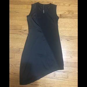 Improvd Asymmetrical black dress